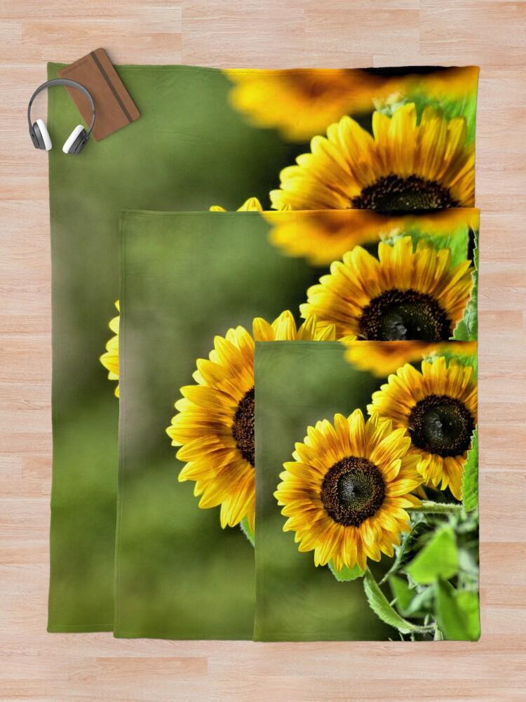 Alternate view of Sunflowers Throw Blanket