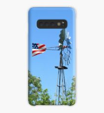 South Texas Windmill with Flag Case/Skin for Samsung Galaxy