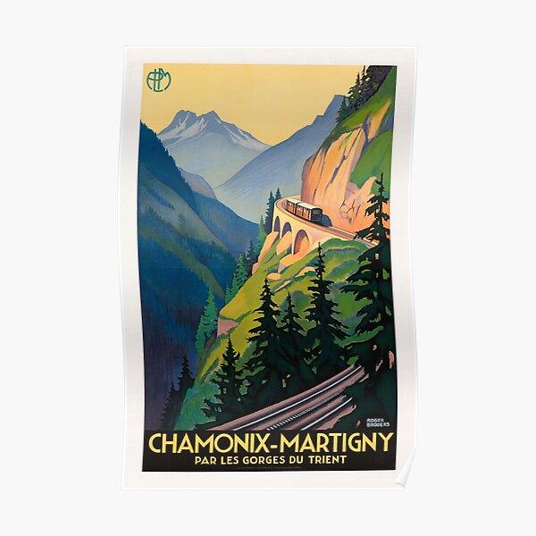 Vintage French Travel Poster - Chamonix Martigny Railway Poster