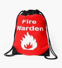 Fire Warden by Exit Incorporated Drawstring Bag