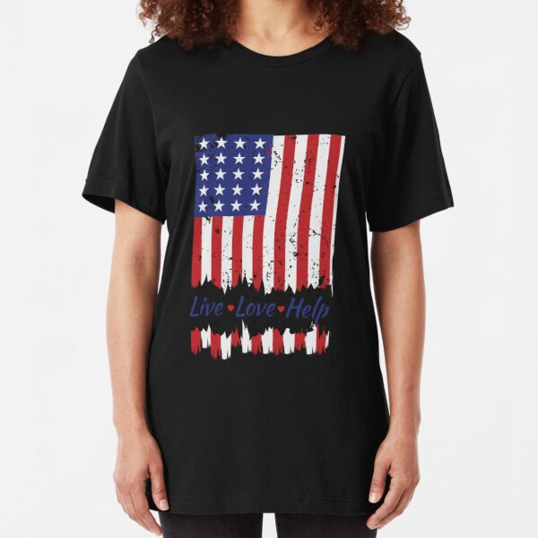 Ladies Trump Inauguration Day United States Of America USA Flag DT T-Shirt Tee