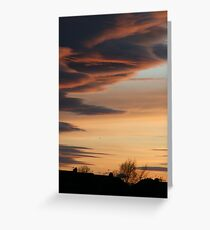Tyneside sunset Greeting Card