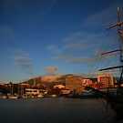 winter sunrise. hobart - tasmania by tim buckley | bodhiimages