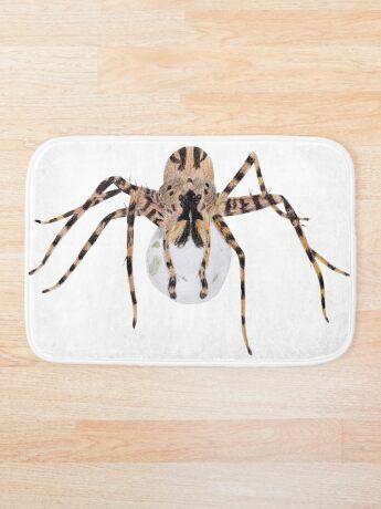 Spider with an Egg Sack Bath Mat