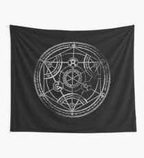Human transmutation circle - chalk Wall Tapestry