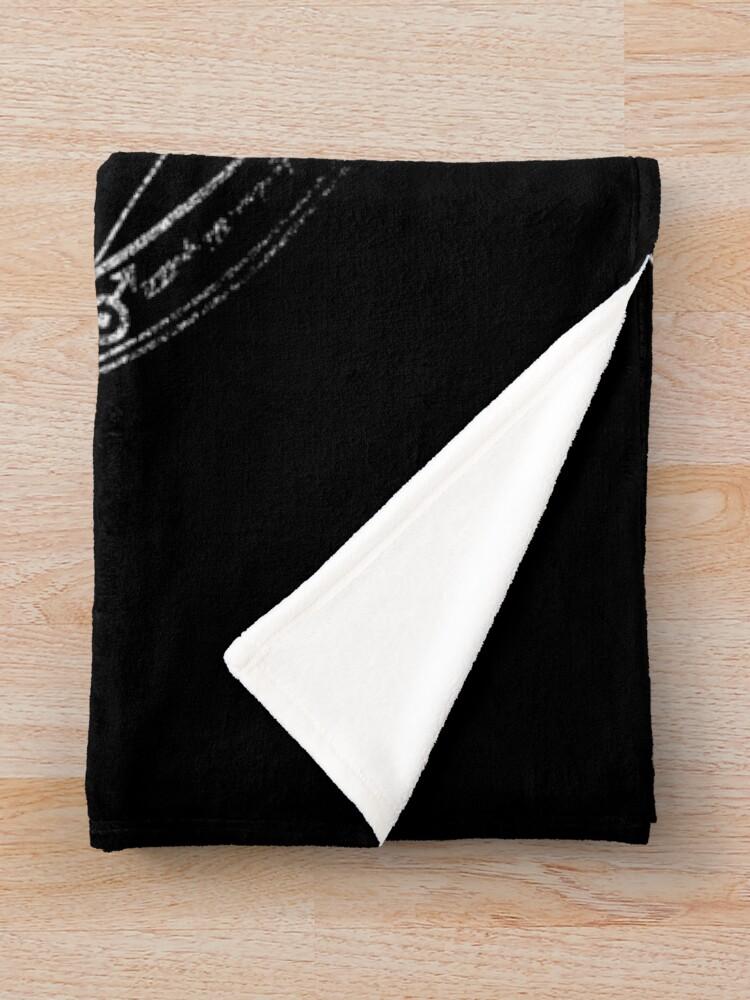 Alternate view of Human transmutation circle - chalk Throw Blanket
