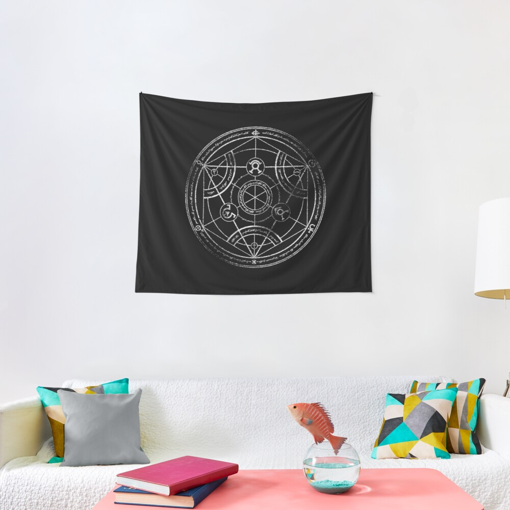 Human transmutation circle - chalk Tapestry