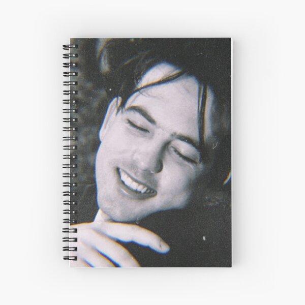 Smiling Cute 1980s Goth Rock Robert Smith Edit 8.0 Spiral Notebook