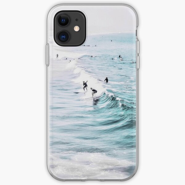 California beach, Ocean, Coast, Beach, Surfing, Water iPhone Soft Case