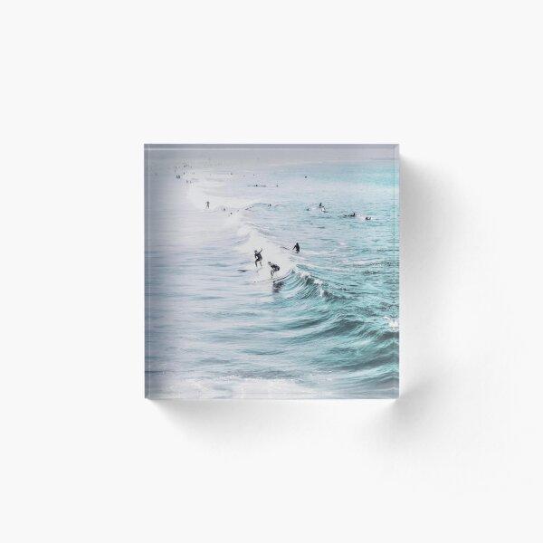 California beach, Ocean, Coast, Beach, Surfing, Water Acrylic Block
