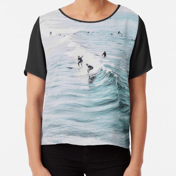 California beach, Ocean, Coast, Beach, Surfing, Water Chiffon Top