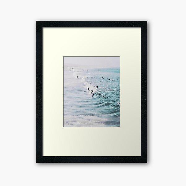 California beach, Ocean, Coast, Beach, Surfing, Water Framed Art Print