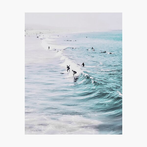 California beach, Ocean, Coast, Beach, Surfing, Water Photographic Print