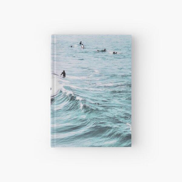 California beach, Ocean, Coast, Beach, Surfing, Water Hardcover Journal