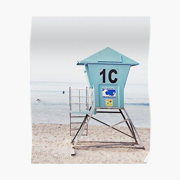 California beach, Ocean, Coast, Beach art Poster