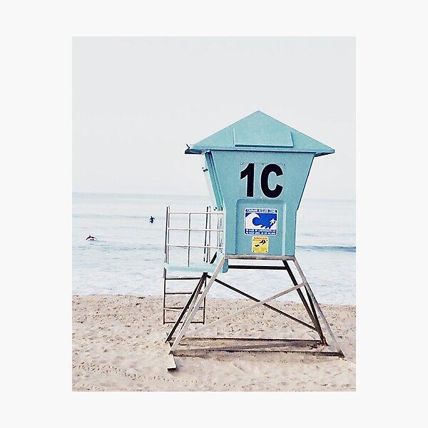 California beach, Ocean, Coast, Beach art Photographic Print