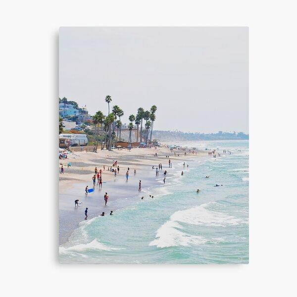 California beach, Ocean, Coast, Beach art, Water Canvas Print