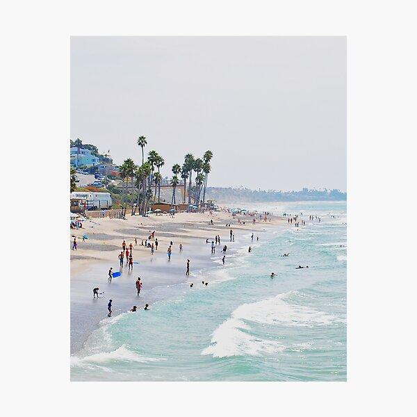 California beach, Ocean, Coast, Beach art, Water Photographic Print