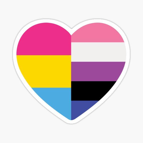 Genderfluid Pansexual Heart Sticker