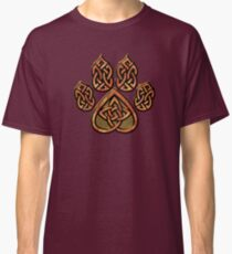 Celtic Knot Pawprint - Red Classic T-Shirt