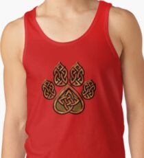 Celtic Knot Pawprint - Red Tank Top