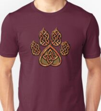 Celtic Knot Pawprint - Red Slim Fit T-Shirt