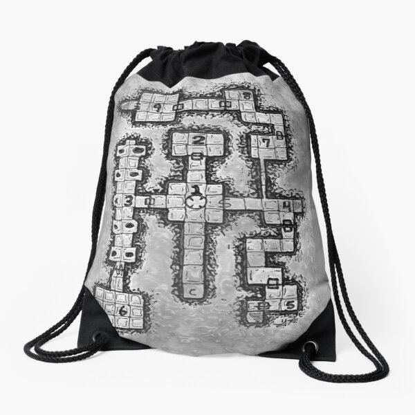 Old School Dungeon Design 002 Drawstring Bag