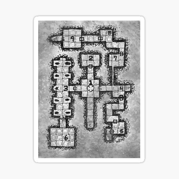 Old School Dungeon Design 002 Sticker