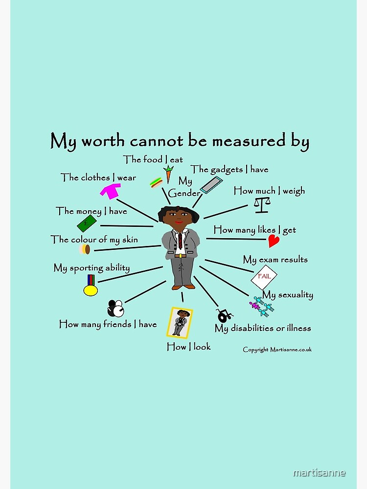 My worth cannot be measured by C by martisanne