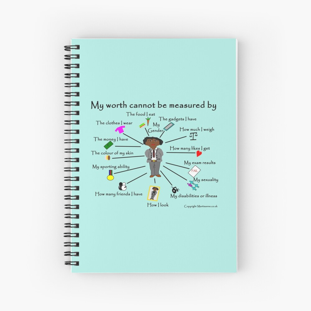 My worth cannot be measured by C Spiral Notebook