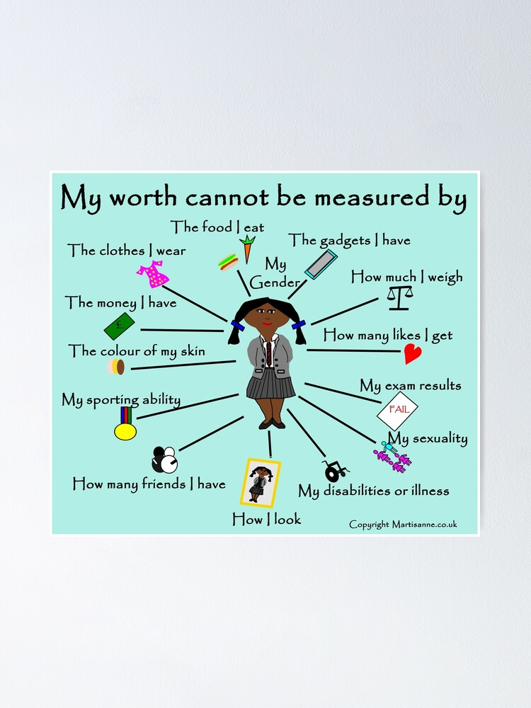 Alternate view of My worth cannot be measured by D Poster