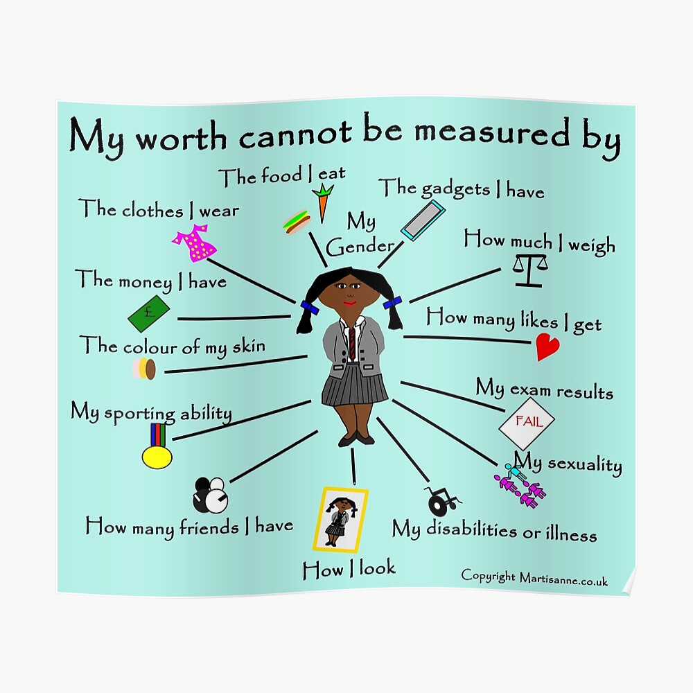 My worth cannot be measured by D Poster