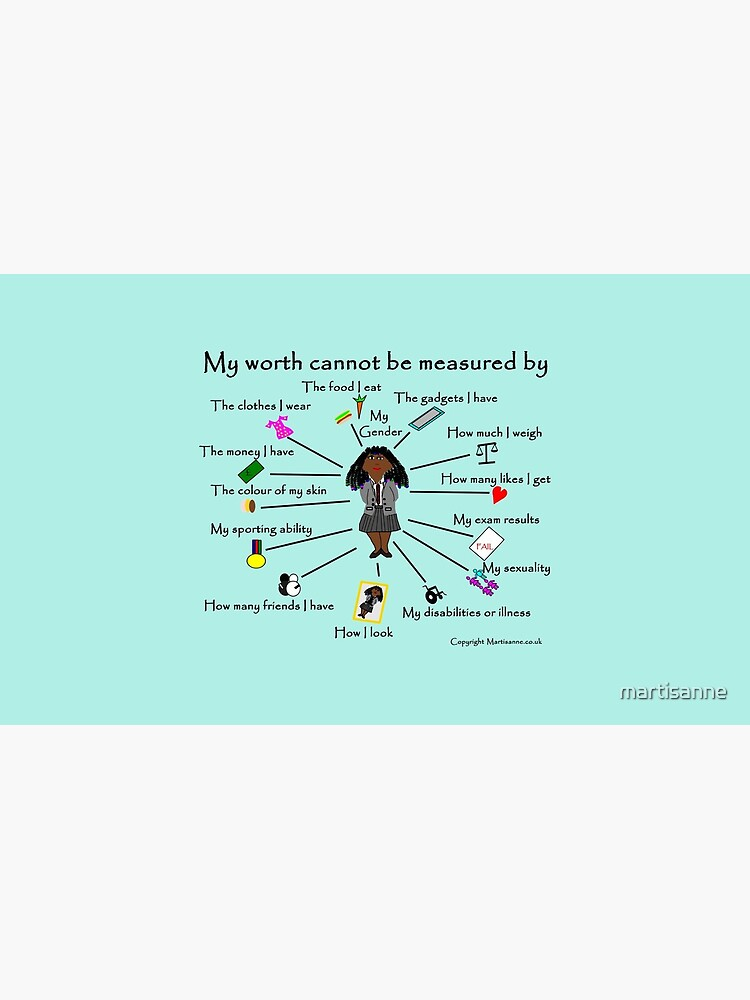 My worth cannot be measured by E by martisanne