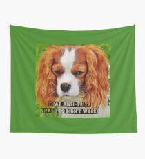 "Funny Dog Shirt, Cocker Spaniel, ""That anti-frizz shampoo didn't work"" Wall Tapestry"