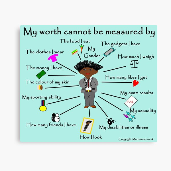 My worth cannot be measured by F Canvas Print