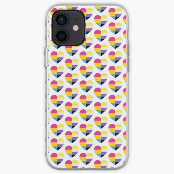 Nonbinary Pansexual Heart iPhone Soft Case