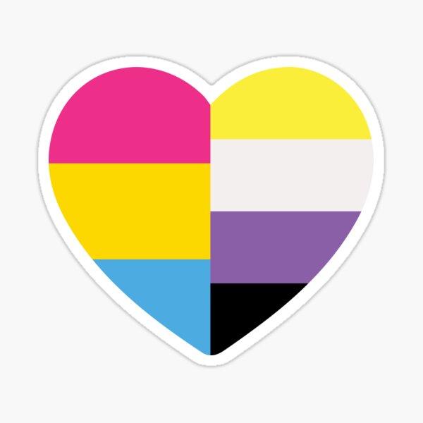 Nonbinary Pansexual Heart Sticker