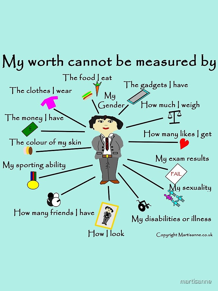 My worth cannot be measured by G by martisanne