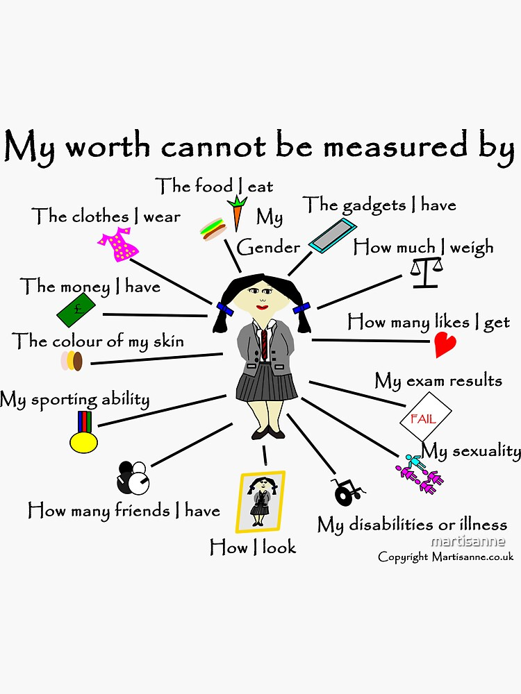 My worth cannot be measured by H by martisanne