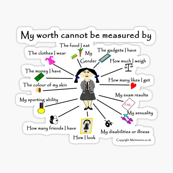 My worth cannot be measured by H Sticker
