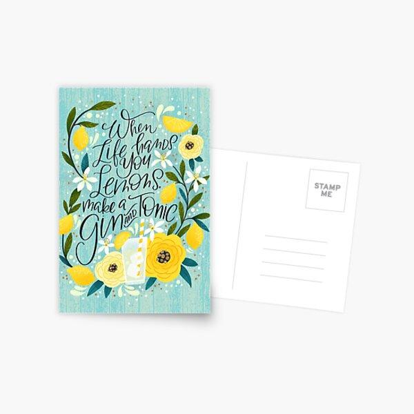 When Life Hands You Lemons, Make a Gin and Tonic Postcard