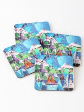 Boats and Lighthouse Coasters
