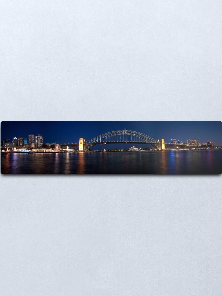 Alternate view of Sydney by Night. Metal Print