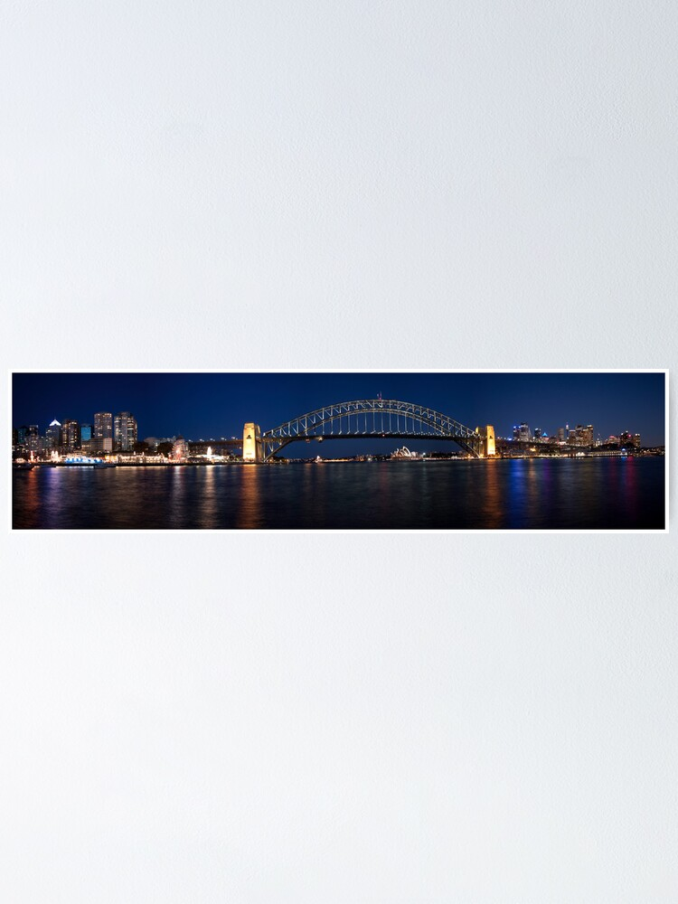 Alternate view of Sydney by Night. Poster
