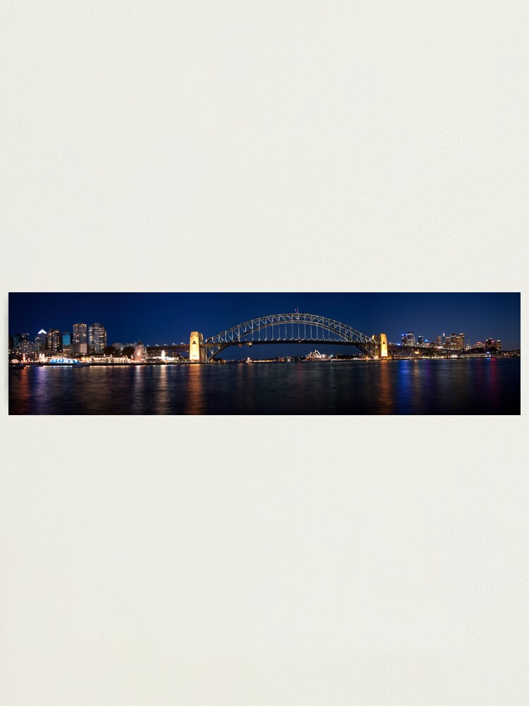 Alternate view of Sydney by Night. Photographic Print