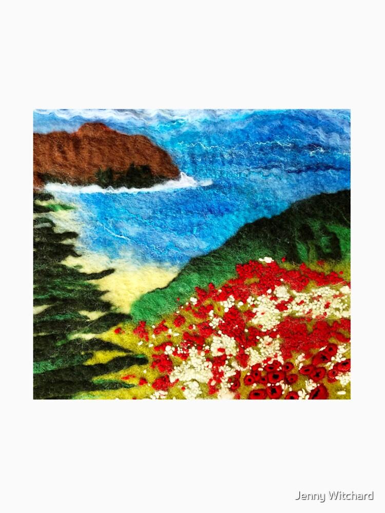 Cornish Poppy Field by SeaDriftStudio