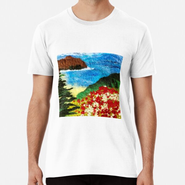 Cornish Poppy Field Premium T-Shirt