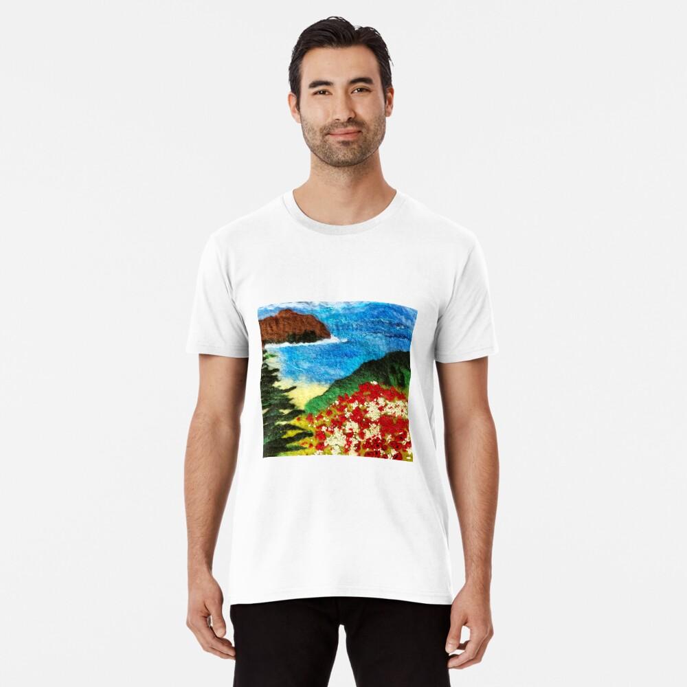 Cornish Poppy Field Premium T-Shirt