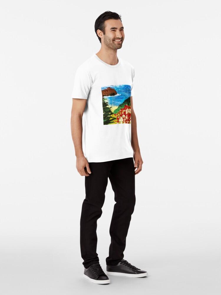 Alternate view of Cornish Poppy Field Premium T-Shirt