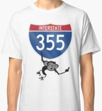 Camiseta clásica Interestatal 355 I-355 Fuck You Monkey Veteranos conmemorativos Chicago Illinois State Highway